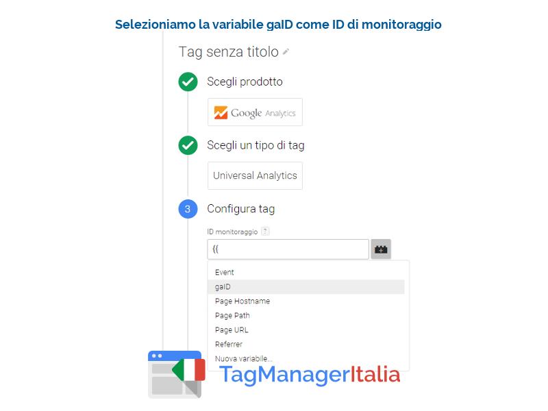 guida implementazione google analytics - id monitoraggio