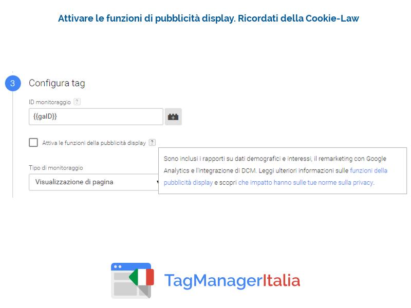 guida implementazione google analytics - pubblicita display