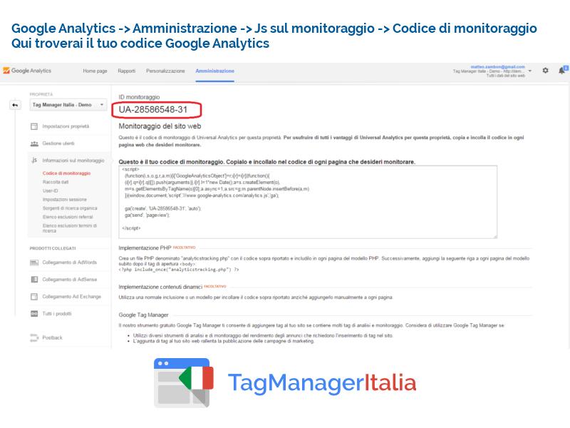guida implementazione google analytics