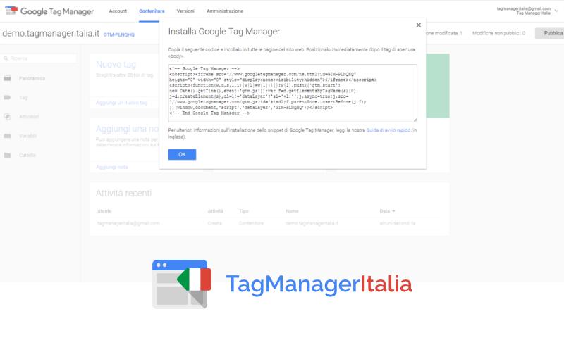 Installare Google Tag Manager Tramite WordPress 1