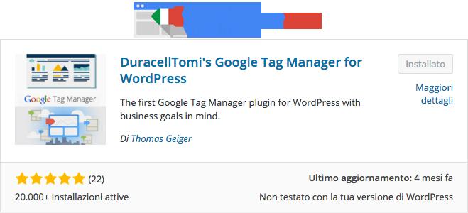 Installare Google Tag Manager Tramite WordPress 3