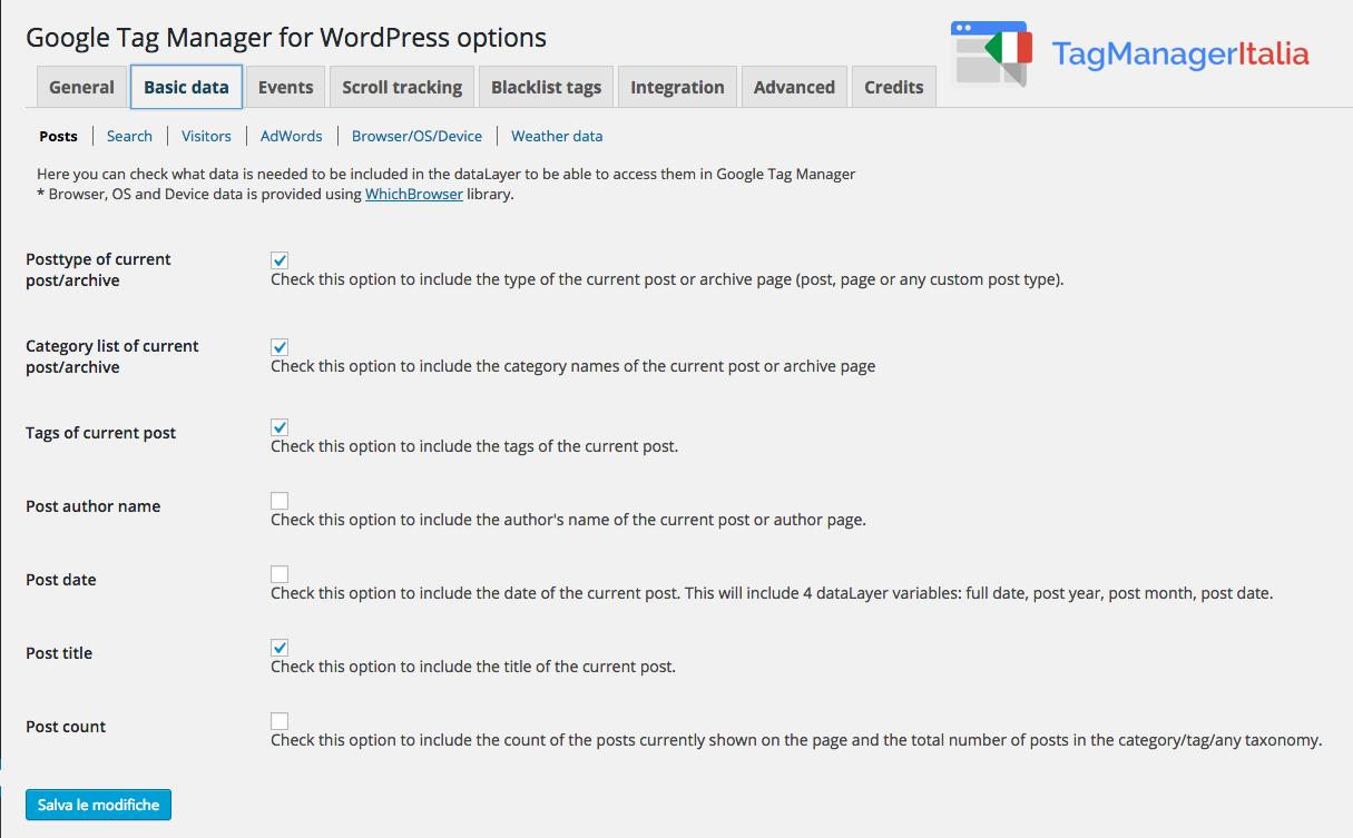 Installare Google Tag Manager Tramite WordPress 5