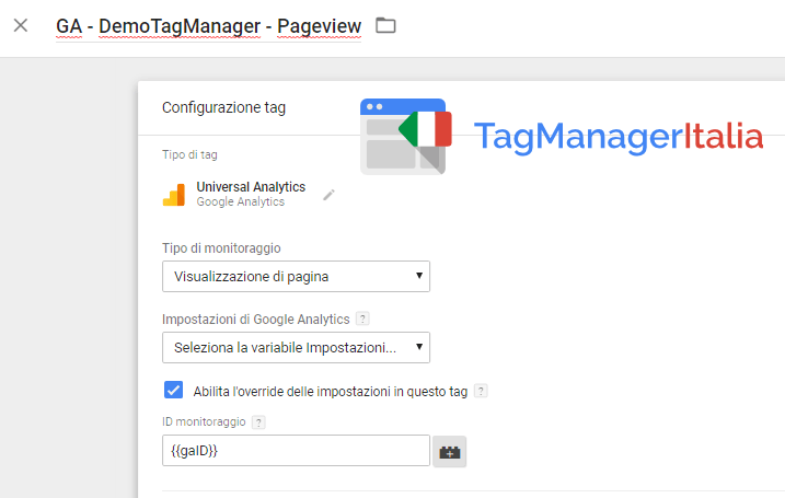 ga google tag manager ovveride
