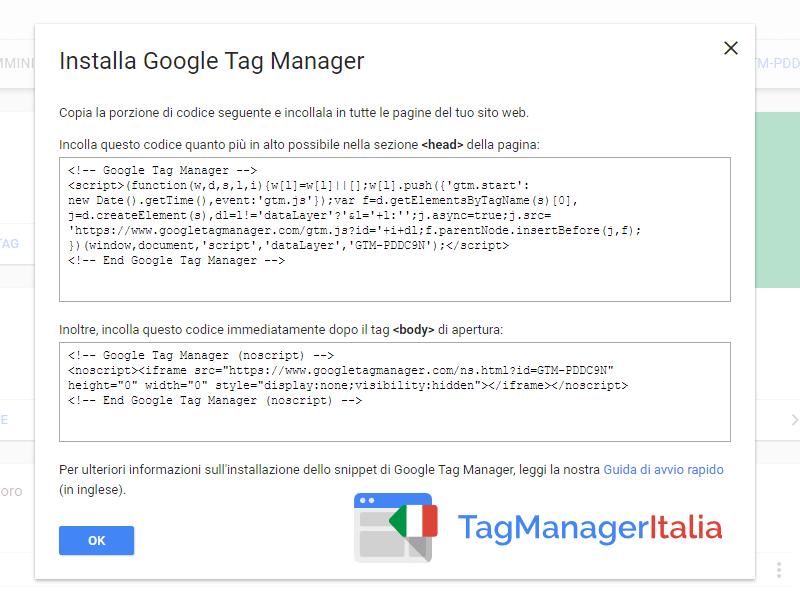 Installare Google Tag Manager con WordPress 1