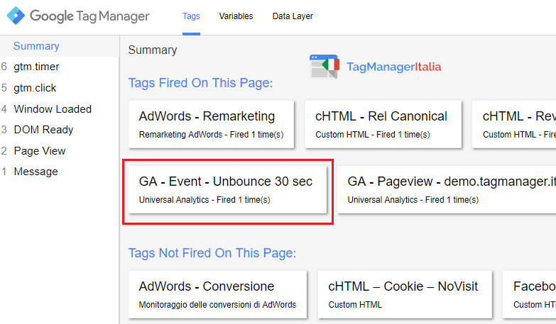 verifica2 adjusted bounce rate analytics google tag manager