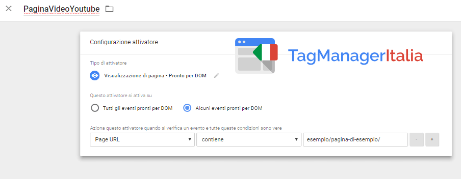 attivatore tracciare video youtube embeddati google tag manager