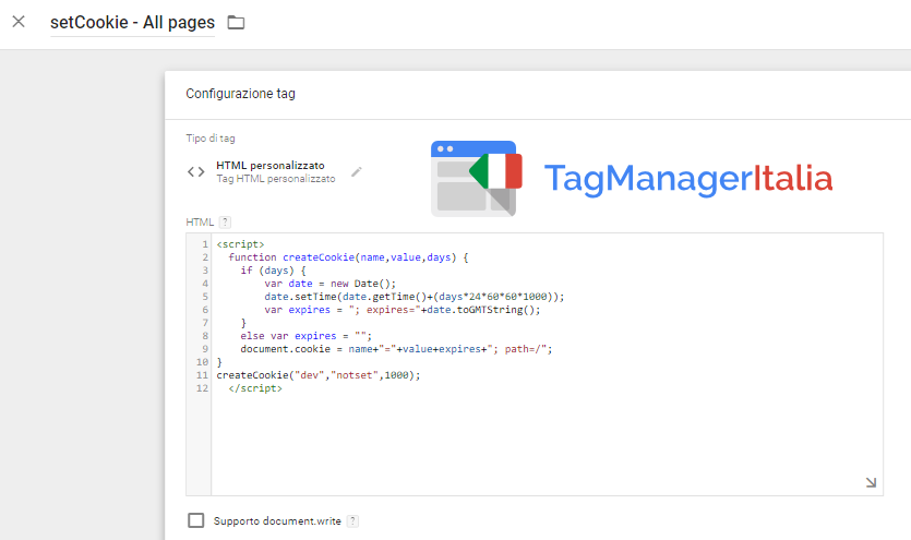 tag cookie eliminare referral su analytics con google tag manager