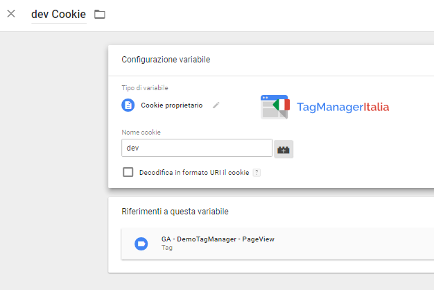 variabile cookie per eliminare spam da analytics con google tag manager