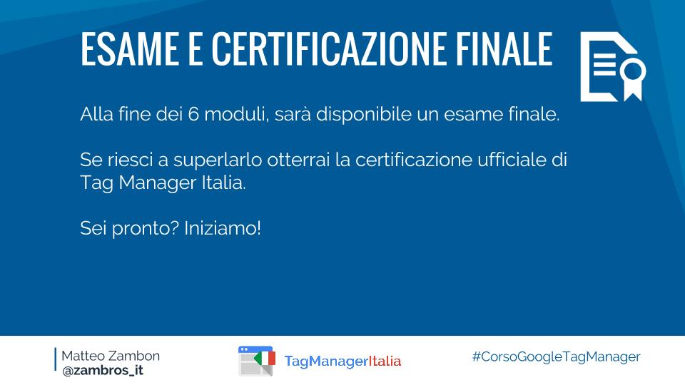 Corso Tag Manager Italia - Google Tag Manager