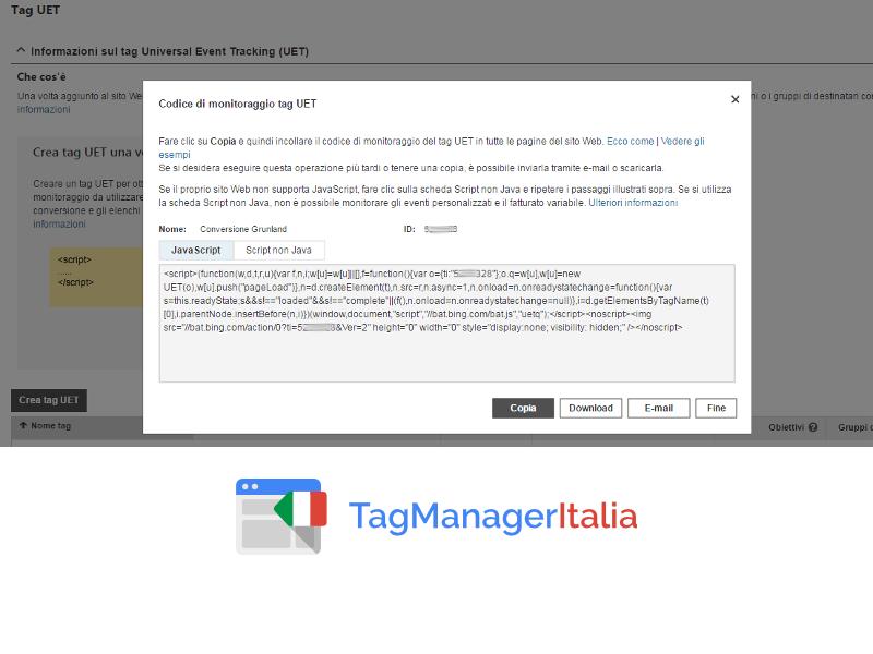codice monitoraggio UET