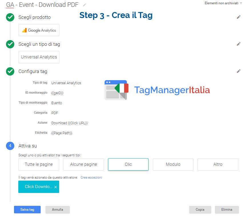 Tracciar elink download pdf - Tag step 3