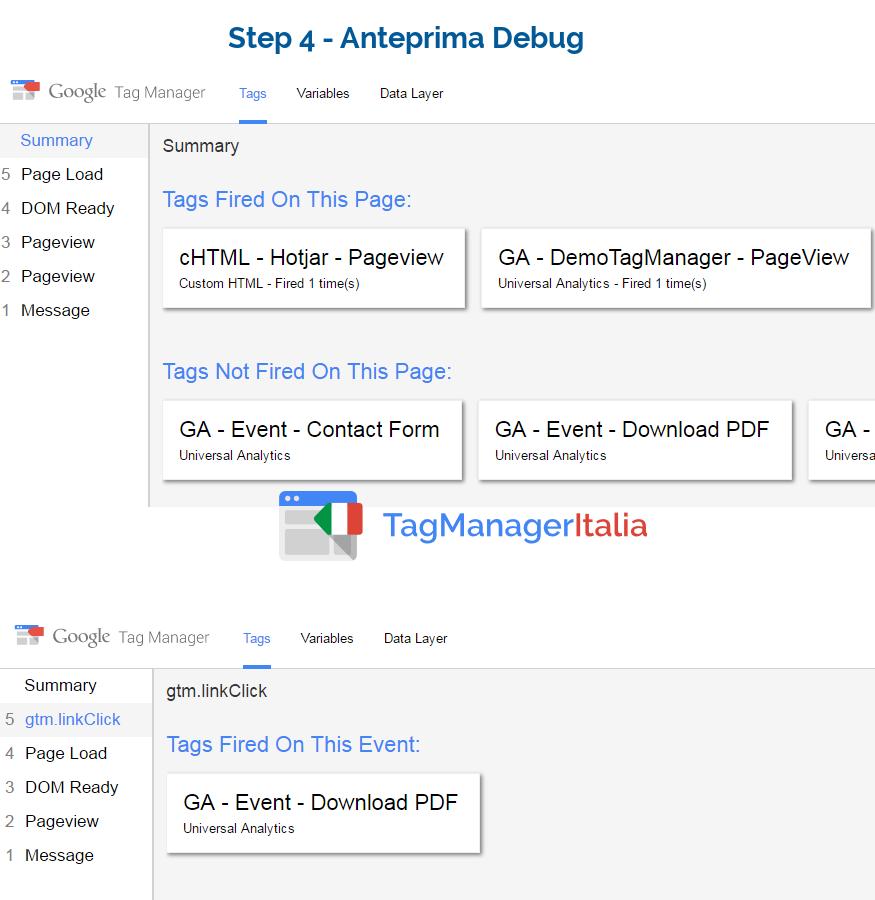 debug tracciare download pdf
