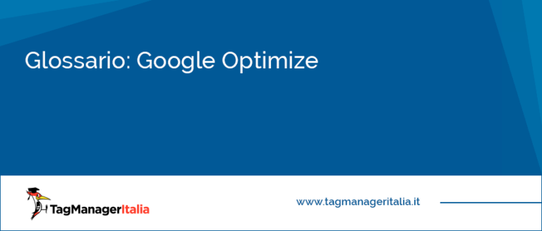 Glossario Google Optimize