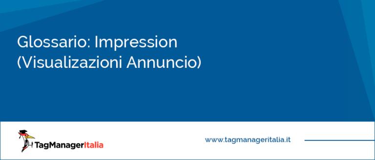 glossario impression google ads (ex AdWords) e Facebook