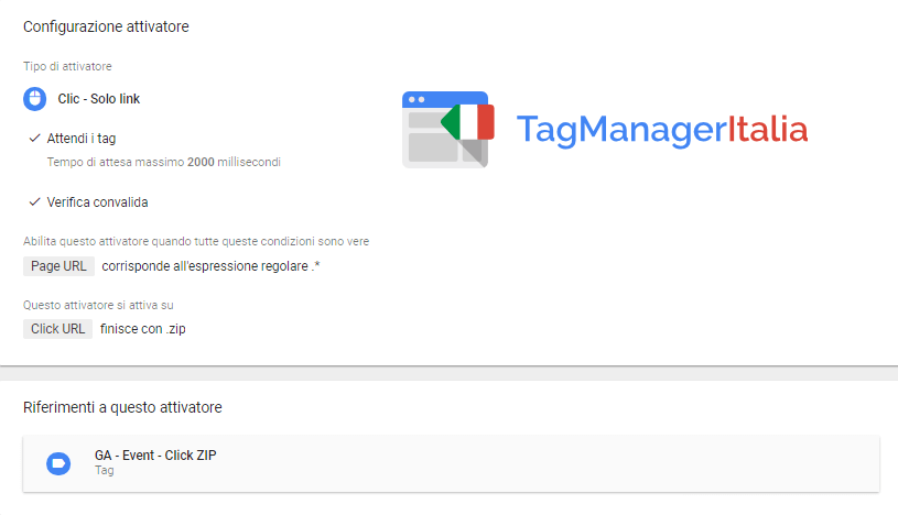 google tag manager download file zip - step 1