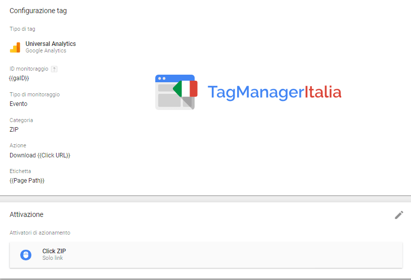 google tag manager download file zip - step 3