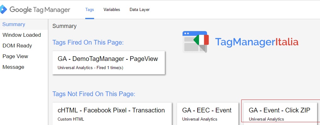 google tag manager download file zip - step 4