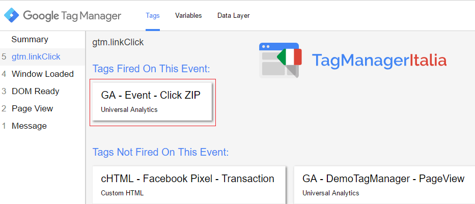 google tag manager download file zip - step 5