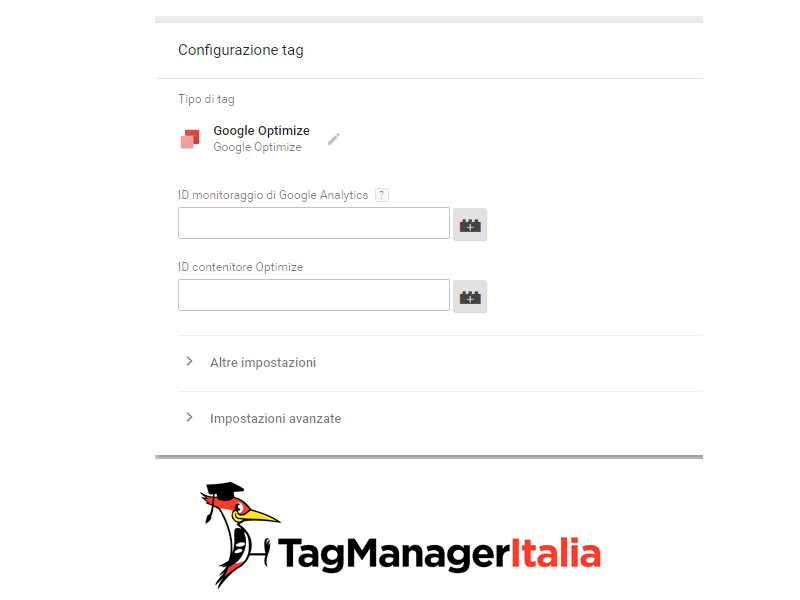 tag di google optimize google tag manager
