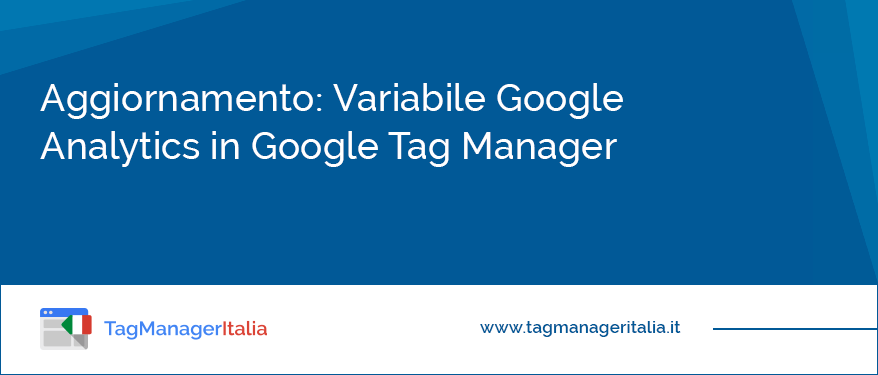 aggiornamento variabile google analytics in google tag manager