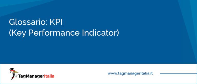 glossario kpi key performance indicator