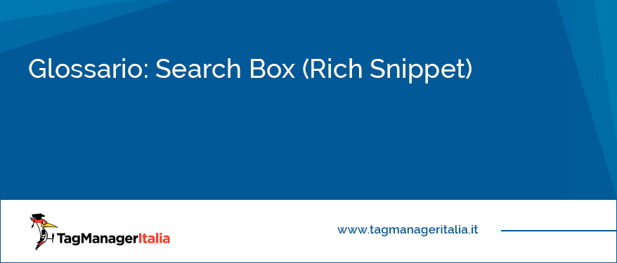 glossario search box rich snippet