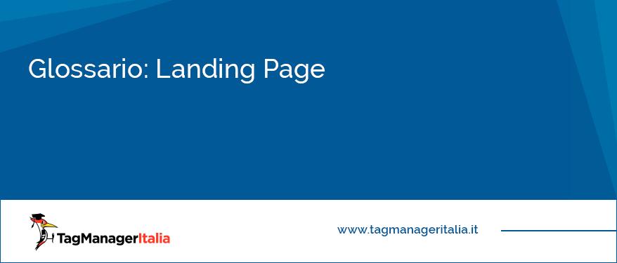 Glossario Landing Page