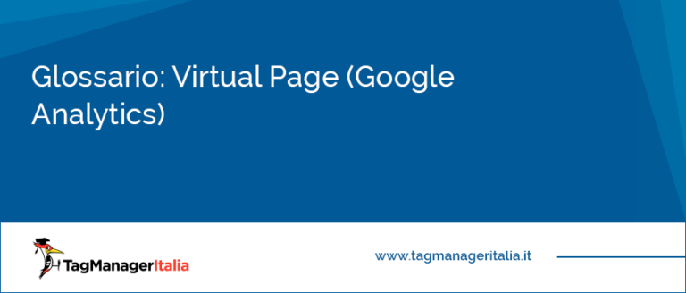 Glossario Virtual Page Google Analytics