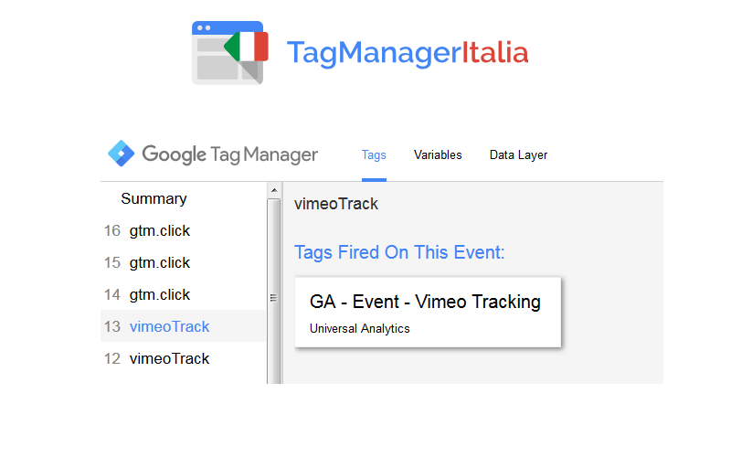 debug vimeo tracking google tag manager