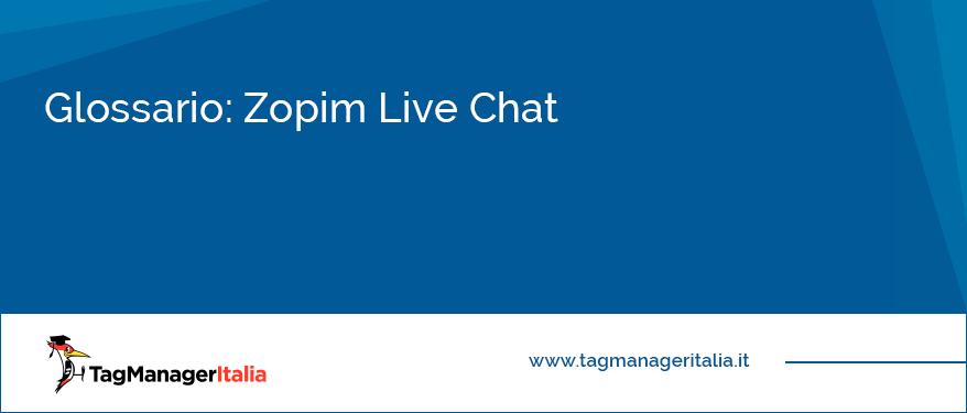 glossario zopim live chat