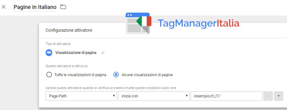attivatore aggiungere href lang italiano google tag manager