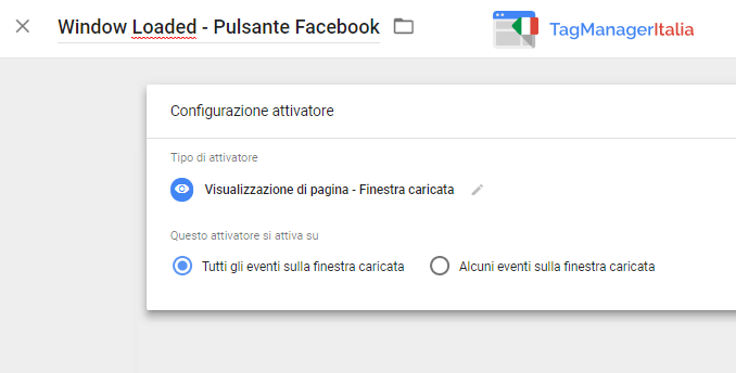 attivatore1 tracciare pulsante facebook mi piace con google tag manager