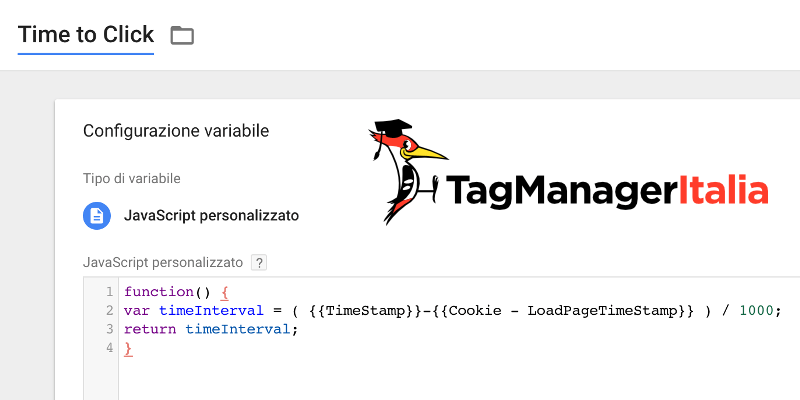 variabile time click google tag manager