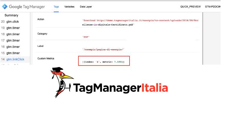 verifica tag tempo click google tag manager