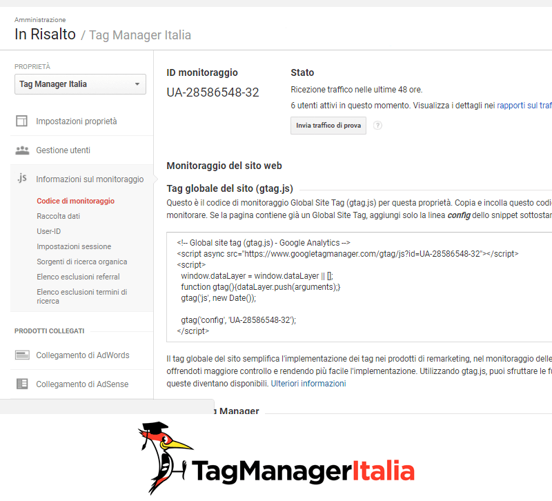 global site tag google analytics