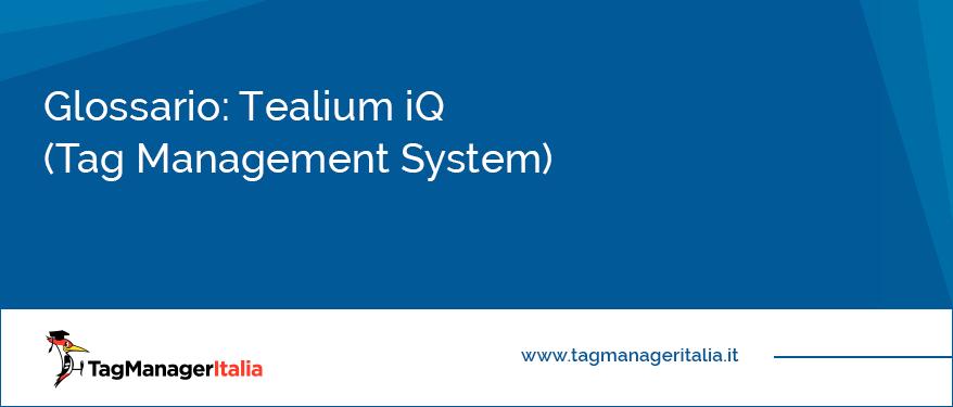glossario tealium iq tag management system