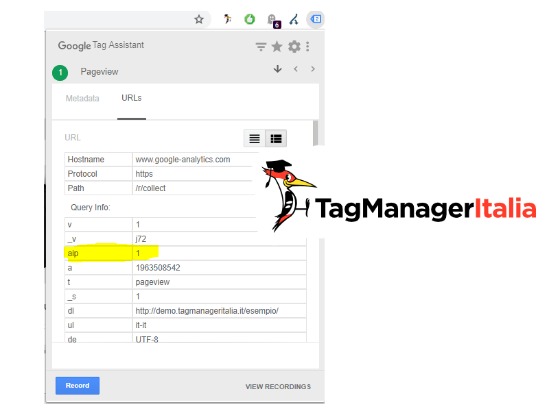 how to verify anoynmize ip google tag manager with google assistant