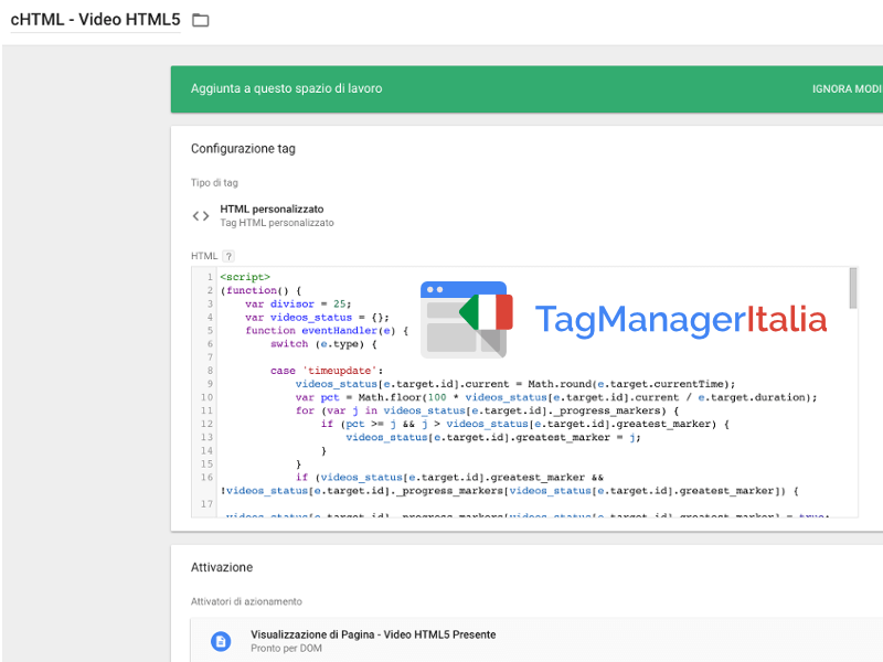 tag html video html5 google tag manager