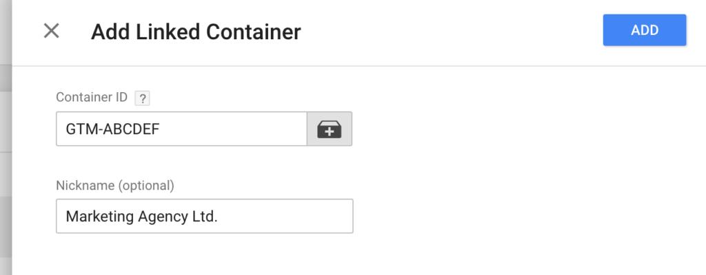 aggiungi contenitore google tag manager 360 zone