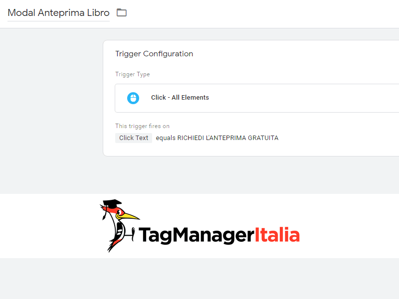 attivatore creare virtual page google tag manager