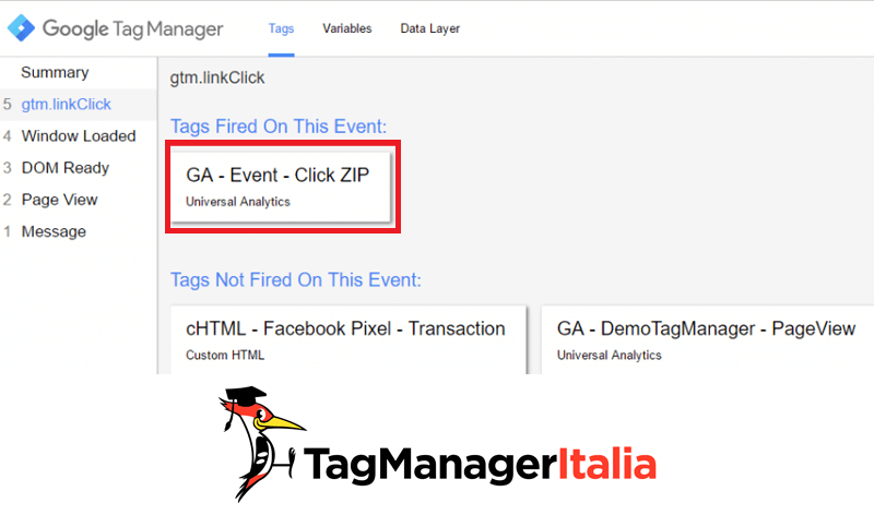 google tag manager download file zip step 5