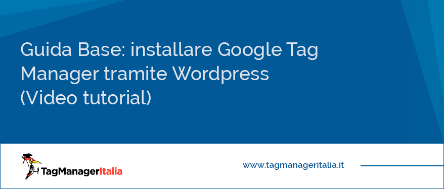 guida base come installare Google tag Manager tramite Wordpress