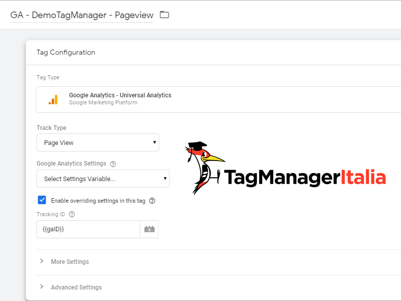 tag analytics override google tag manager