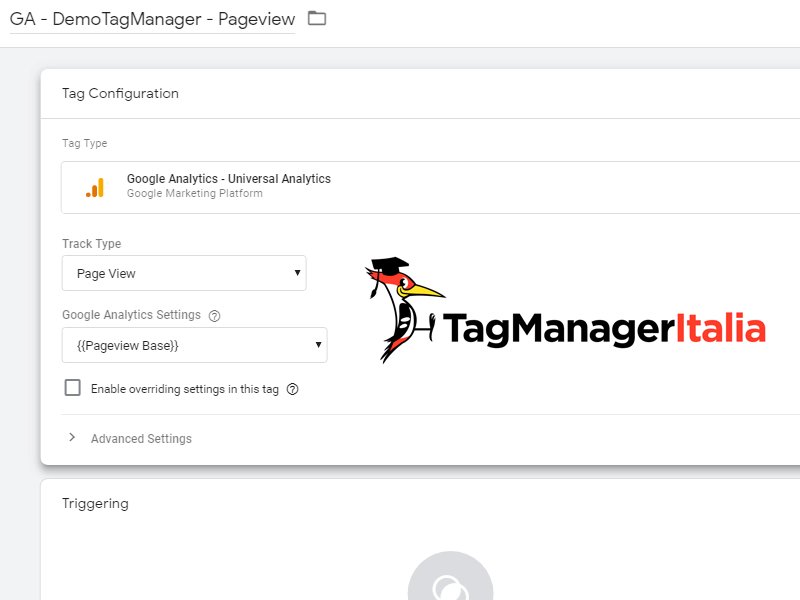tag analytics variabile ga google tag manager