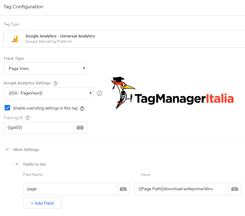 tag creare virtual page google tag manager