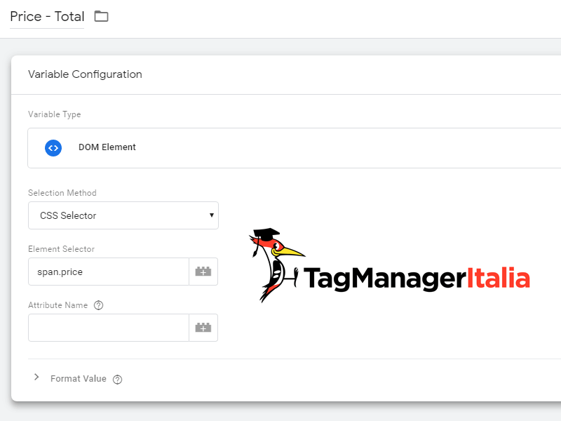 variabile implementare transazione pixel facebook google tag manager