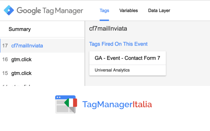 verifica contact form google tag manager 1
