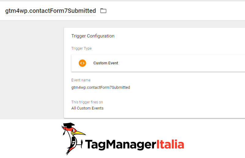 attivatore plugin contact form 7 google tag manager