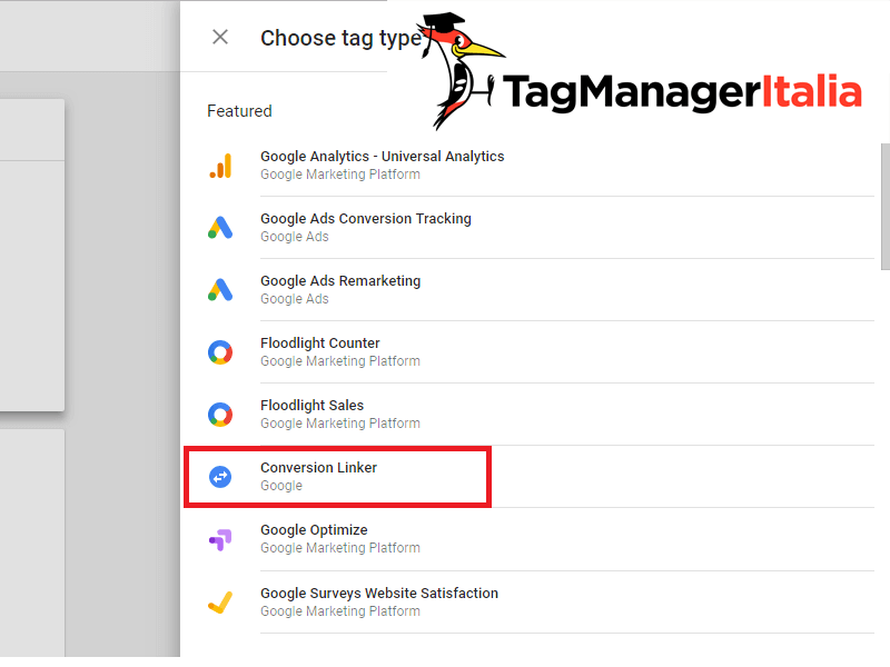 installare tag conversion linker per adwords con google tag manager