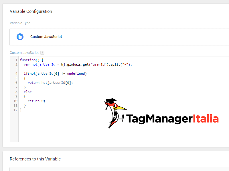 script javascript tracciare user id hotjar analytics google tag manager